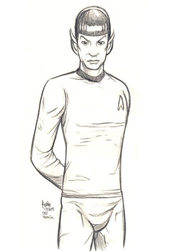 Daily Sketches Mister Spock by fedde