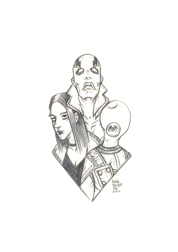 Daily Sketches BPRD by fedde