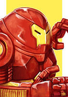 Daily Sketches Hulkbuster Iron Man by fedde