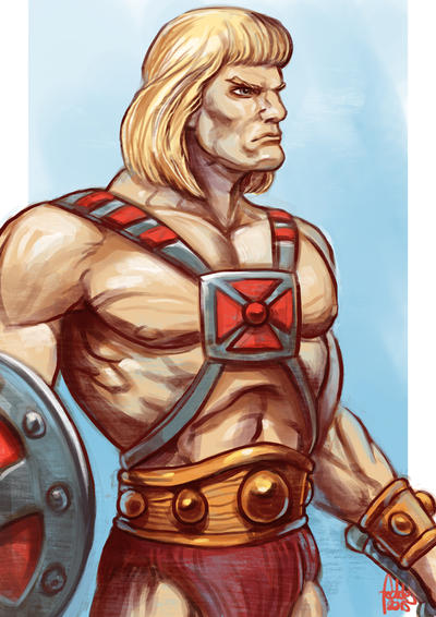 Daily Sketches He-man by fedde