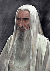 Daily Sketches sir Christopher Lee by fedde