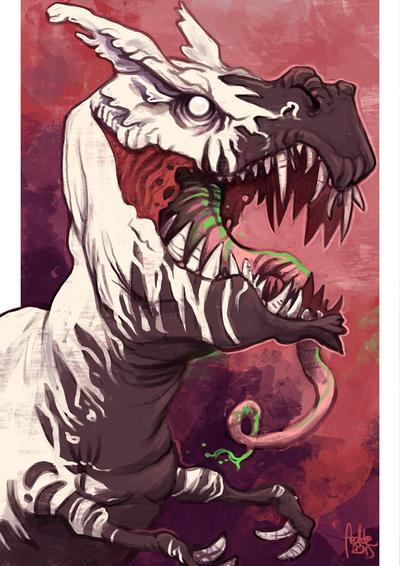 Daily Sketches Venomsaurus Rex by fedde