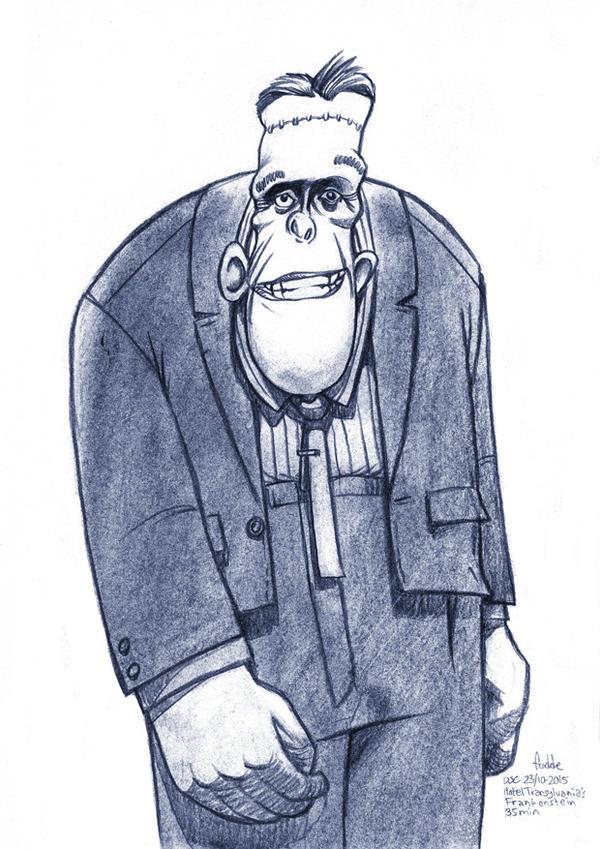 Daily Sketches Hotel Transylvania Frankenstein by fedde on DeviantArt