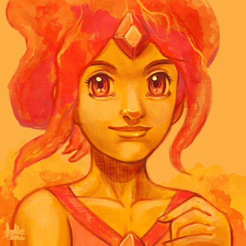 how to draw flame princess