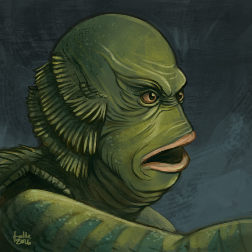 Daily Sketches Creature from the Black lagoon