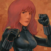 Daily Sketches Black Widow by fedde
