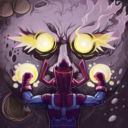 Daily Sketches Galactus Vs Ego