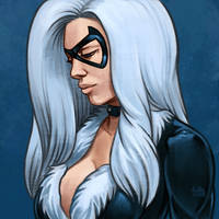 Daily Sketches Black Cat by fedde