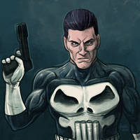 Daily Sketches The Punisher by fedde