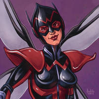 Daily Sketches The Unstoppable Wasp by fedde