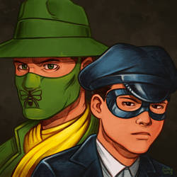 Daily Sketches Green Hornet and Kato by fedde
