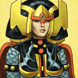 Daily Sketches Big Barda by fedde