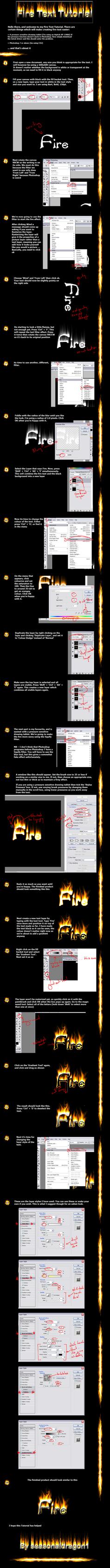 .: Fire Text tutorial :. by seasonaldragon1