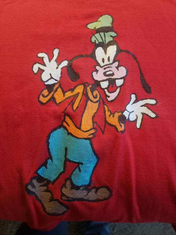 Goofy on T-shirt  by SimianZombie