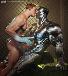 Colossus-Iceman : Some like it Cold! by albron111