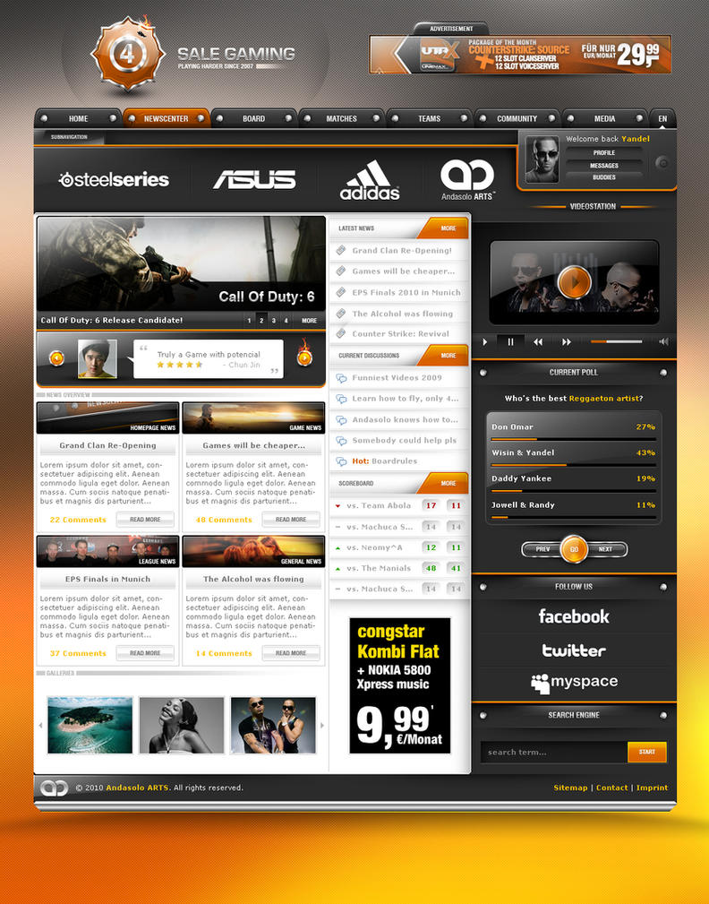 4 Sale Gaming by AndasoloARTS Web Interface Showcase of Inspiration