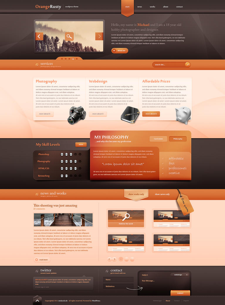 Wordpress Theme II - Sold by Andasolo