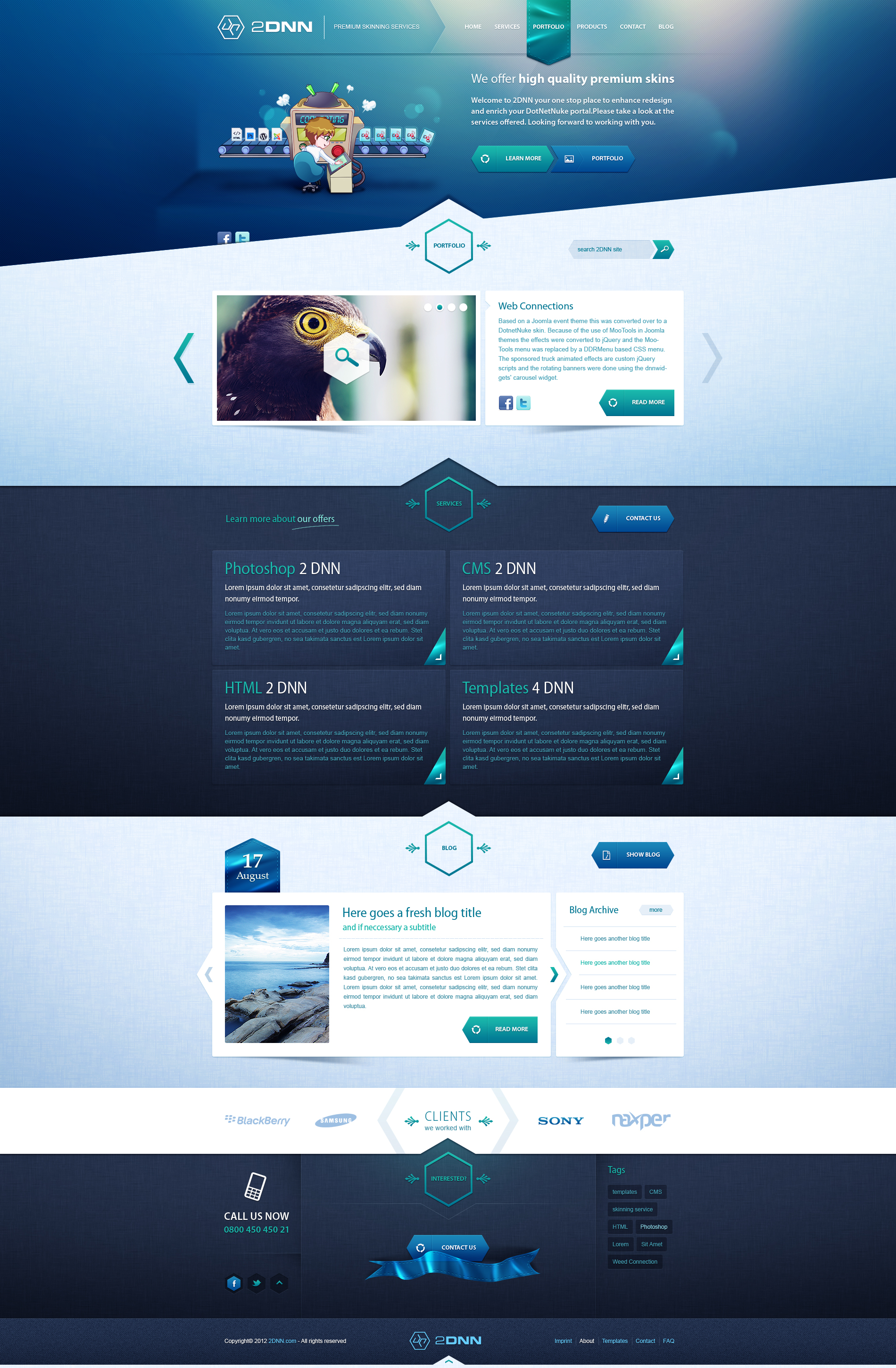 2dnn portfolio sold by andasolo on deviantart for Architect website design