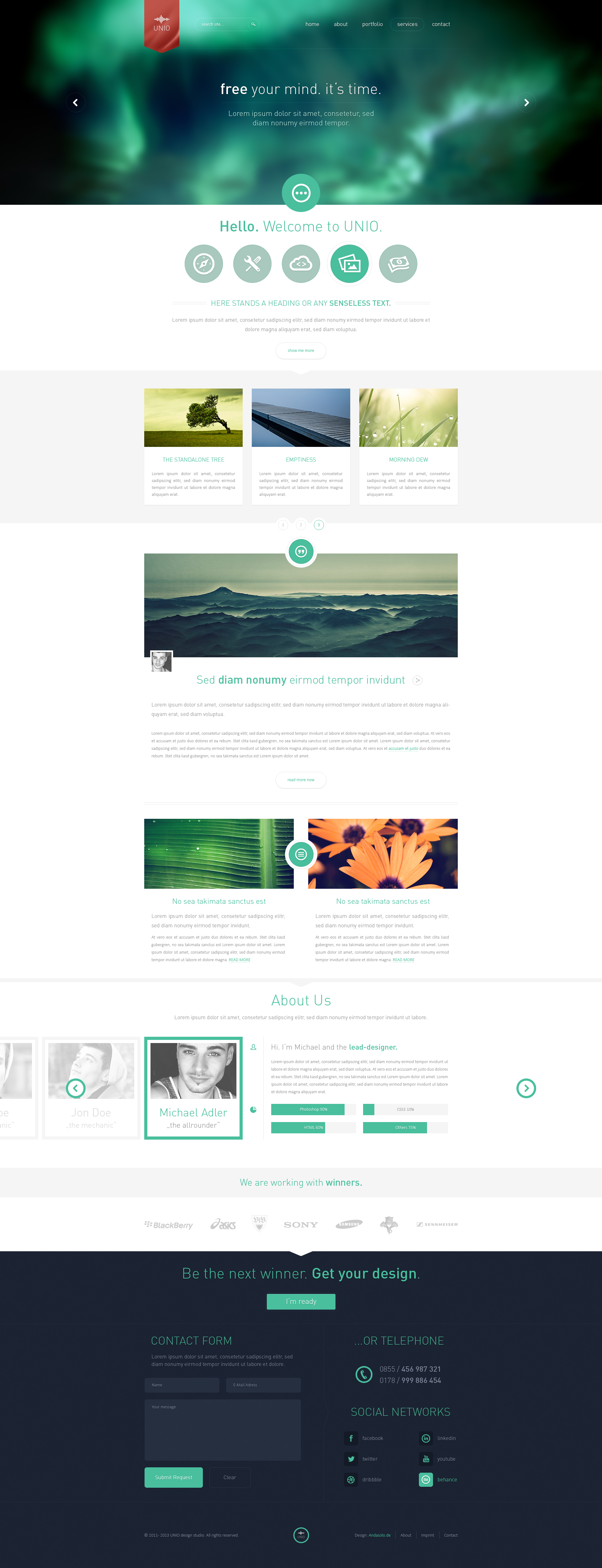 UNIO Portfolio Theme - Sold by Andasolo