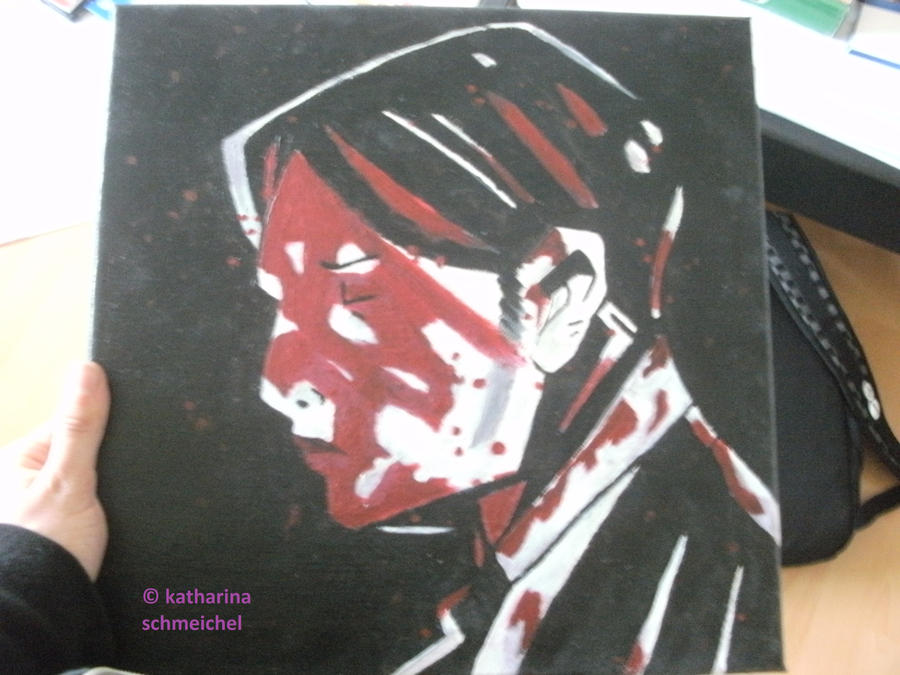 painting of the man on the three cheers cover :3 by cornercreepkilljoy