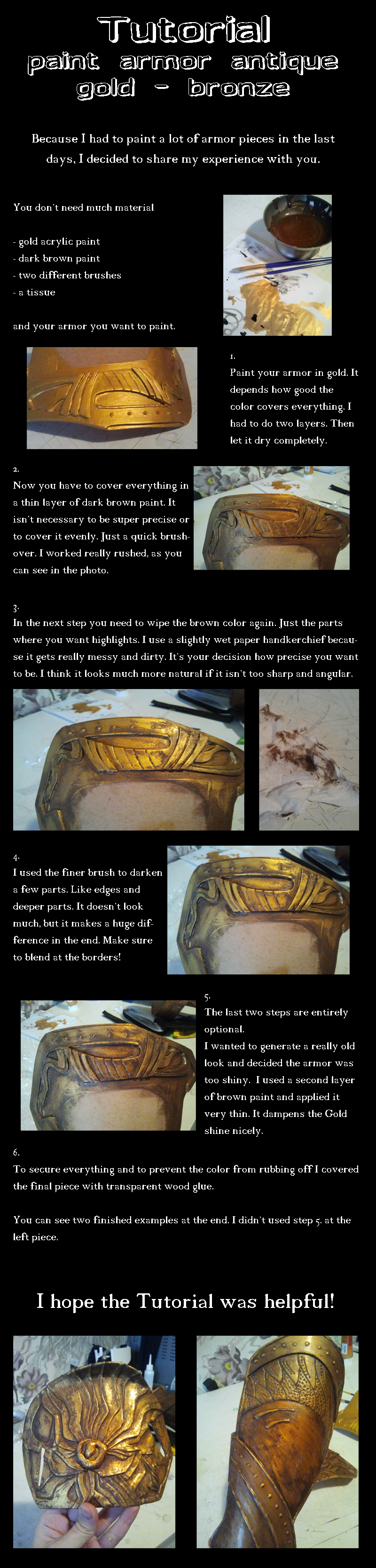 Tutorial paint armor antique gold by Ankh-Feels