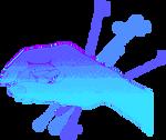 Blue Hand Pixel