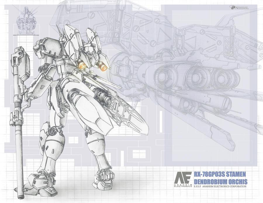 Stamen RX-78GP03S by NOMANSNODEAD