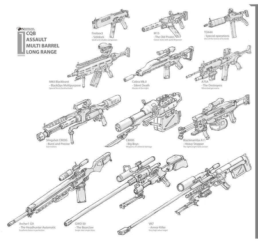 Guns by NOMANSNODEAD