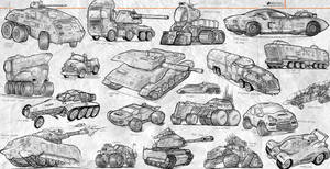 Sketches Land Vehicles
