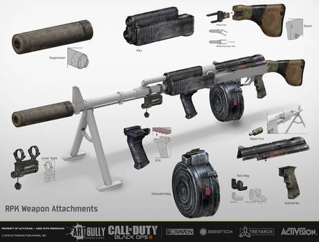 RPK Weapon Attachments CoD: Black Ops III