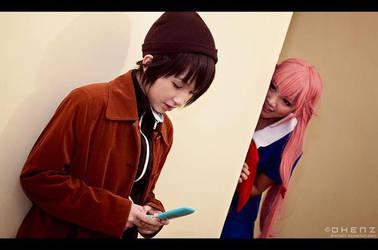 Just Yuno stalking Yukiteru by nekoyren