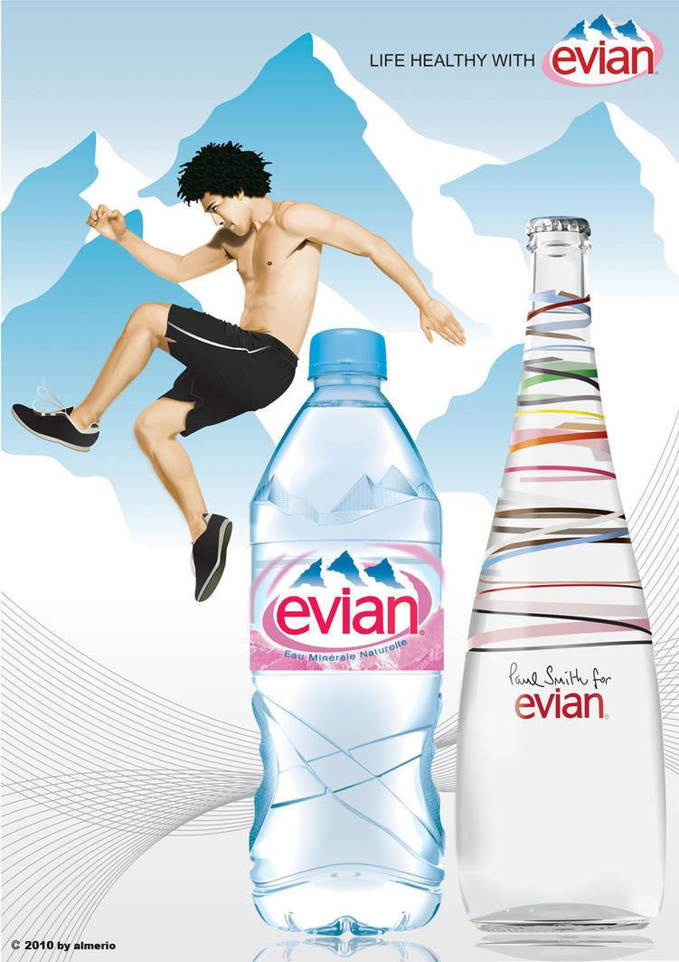 marketing the glacier evian Evian est une marque universelle concept marketing d'evian la marque d'eau minérale evian se positionne comme étant un élixir de jouvence, une source de jeunesse pour notre corps evian a une vraie légitimité historique qui définit clairement son positionnement marketing d'eau pure et naturel.