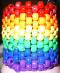 Kandi Cuff #2: Rainbow Tower by xxnightmare13