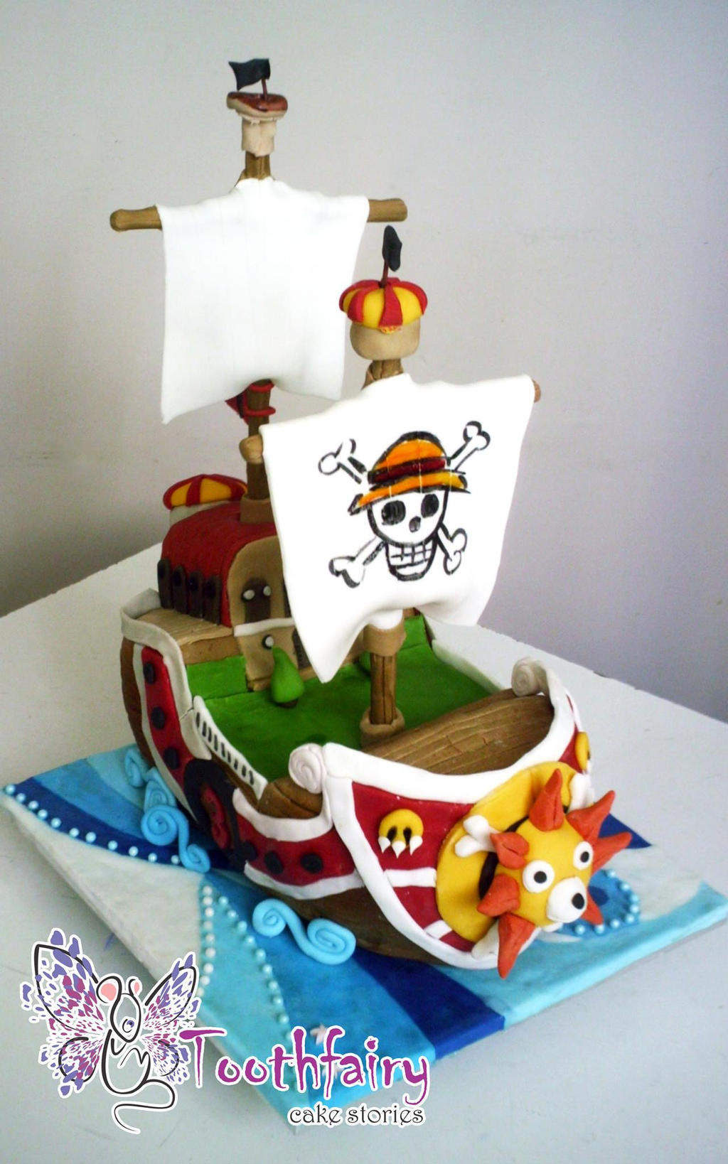 one piece Thousand Sunny ship cake by Ekatika