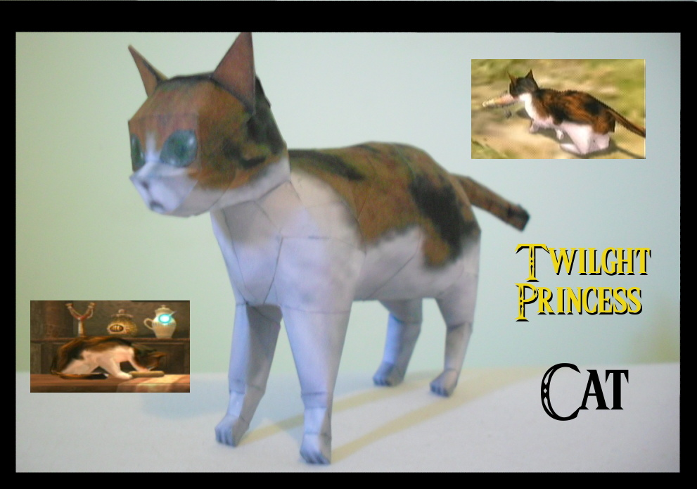 Twilight TP Cat Papercraft by squeezycheesecake