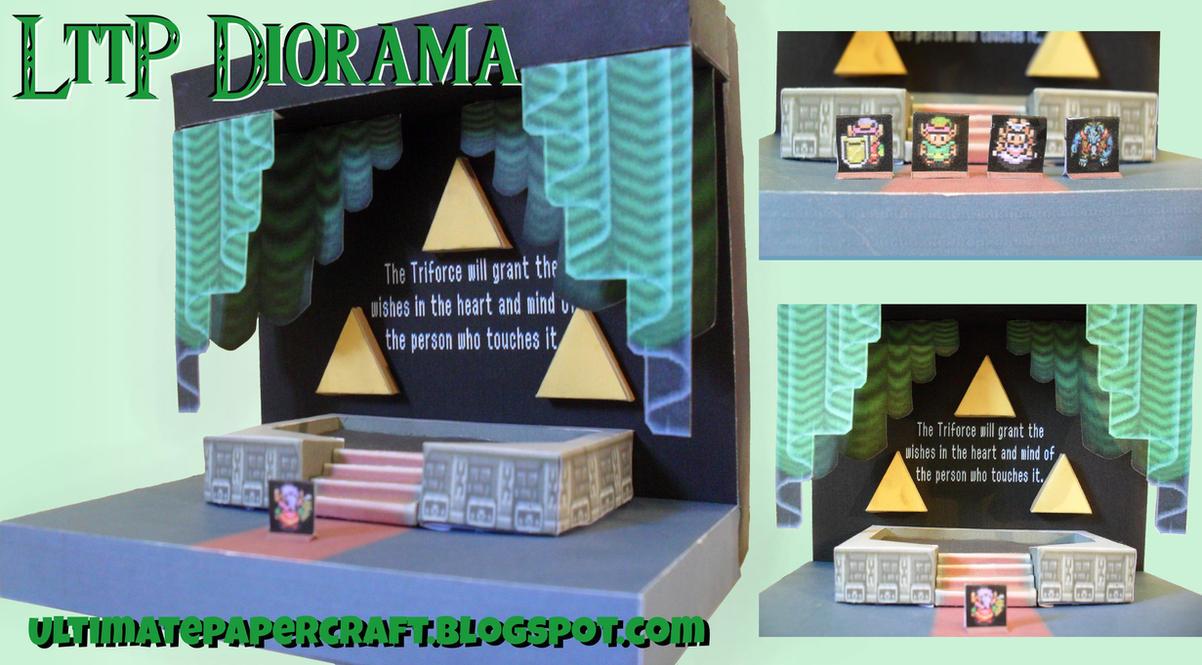 Zelda LttP Diorama Papercraft by squeezycheesecake