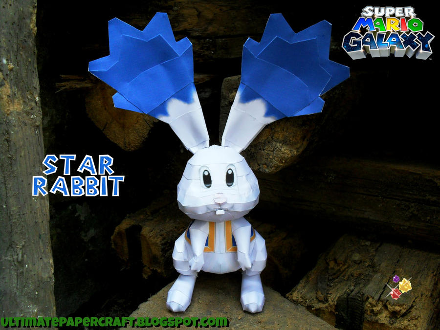 SMG Star Rabbit Papercraft by squeezycheesecake