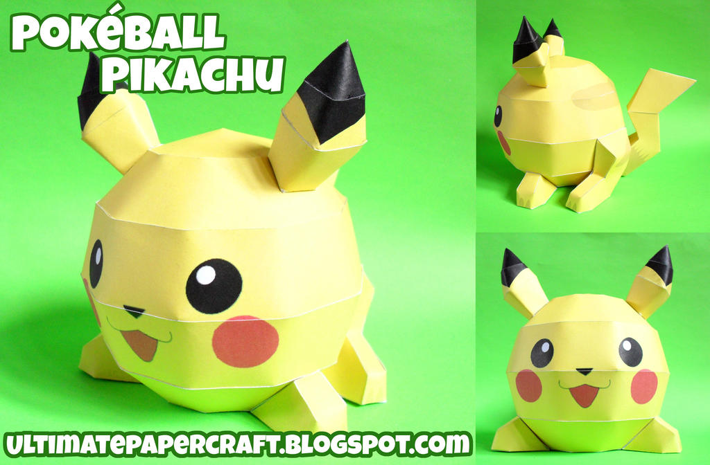 Pokeball Pikachu Papercraft by squeezycheesecake