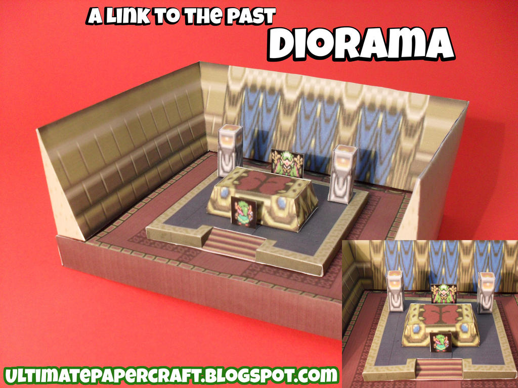 Papercraft aLttP Diorama 2 by squeezycheesecake