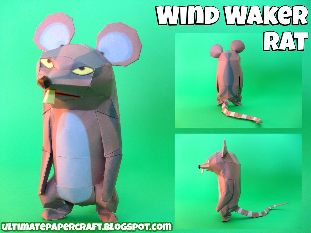 Wind Waker Rat Papercraft by squeezycheesecake