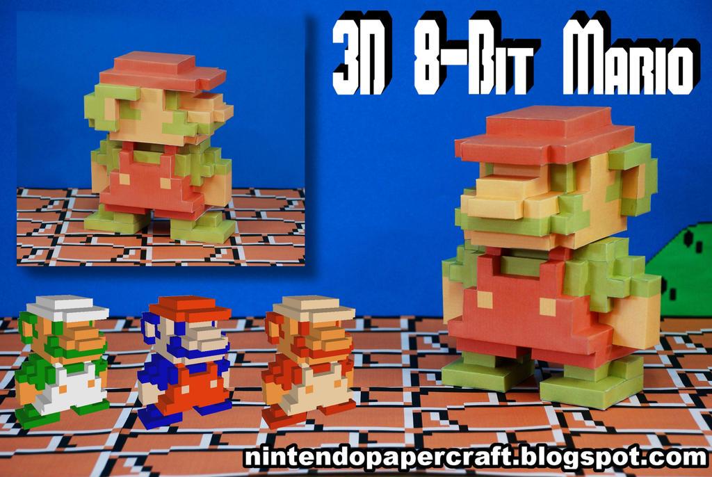 3D 8-Bit Mario Papercraft by squeezycheesecake on DeviantArt