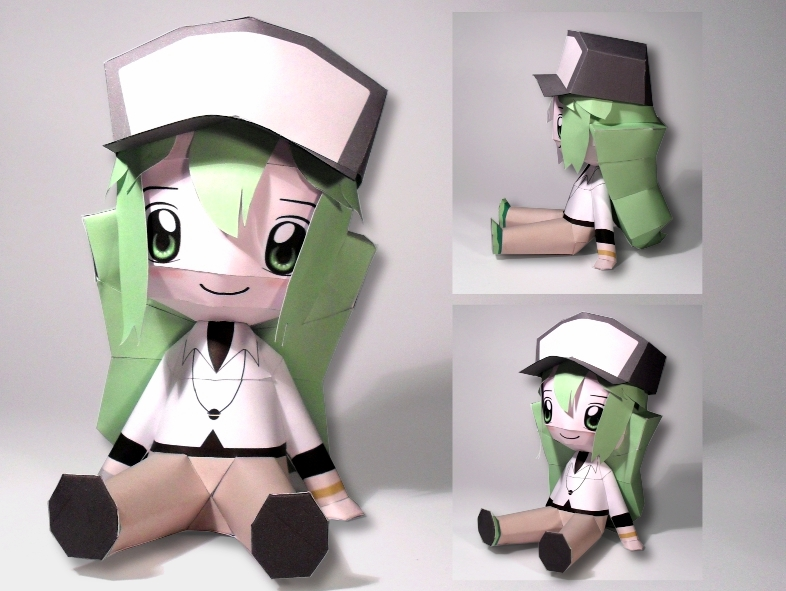 Chibi N Papercraft by squeezycheesecake