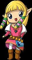 Chibi SS Zelda by squeezycheesecake