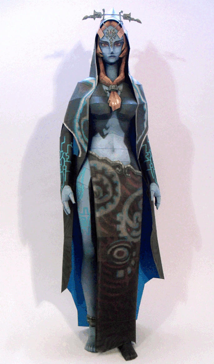 Twili Form Midna Papercraft - 360 Degree Spin by squeezycheesecake