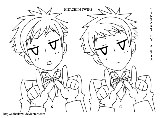 ouran highschool coloring pages - photo#18