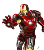 Iron Man Color by SWArtwork