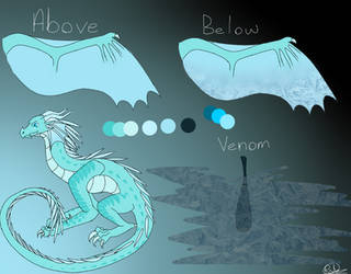 IceWing-RainWing Hybrid Adoptable by PotatoWallpaper