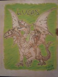 Pyrography - Three Headed Dragon