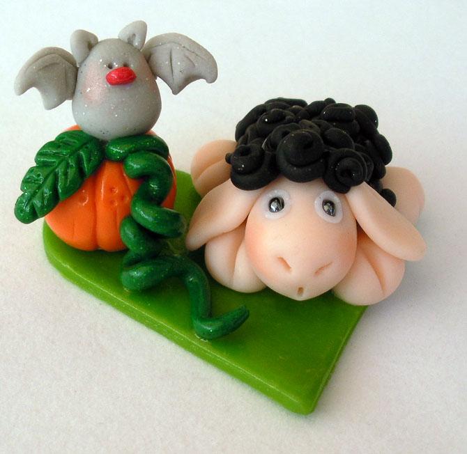 Black Sheep and Bat by HeartshapedCreations