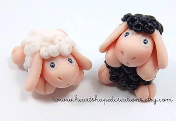Sheep Magnets by HeartshapedCreations